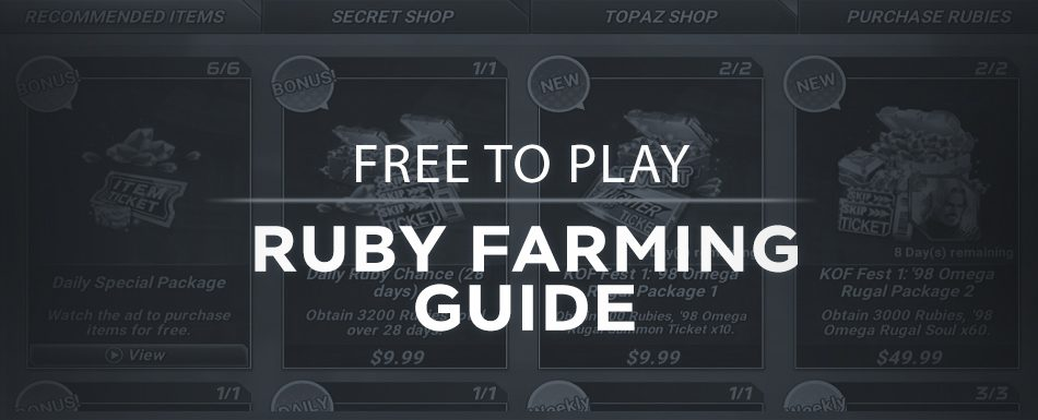 F2P Ruby Farming Guide [+Managing Your Resources]