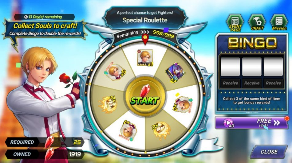 Lucky Roulette Event! – '98 King!